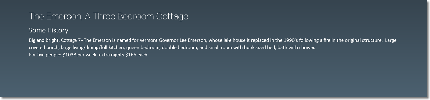 The Emerson, A Three Bedroom Cottage